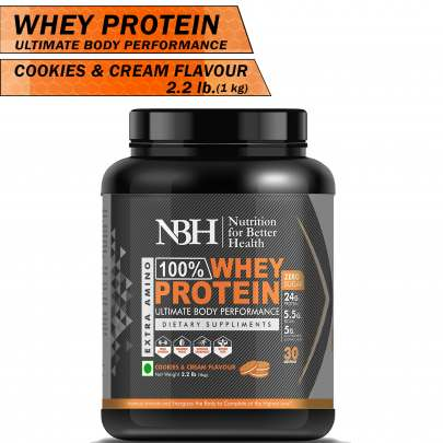 100% Whey Protein Powder cookies & cream Flavor