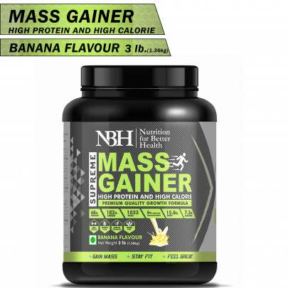 Supreme Mass Gainer (High Protein And High Calories) Banana Flavor
