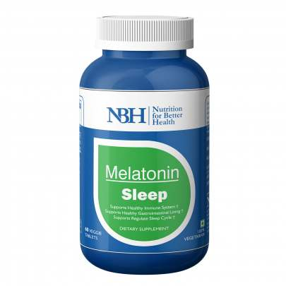 NBH Melatonin 6mg with Valerian root extract 50mg & Theanin Sleeping Aid Pills for deep sleep