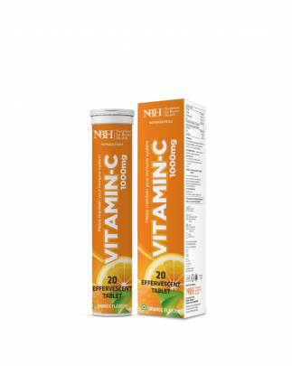 NBH Vitamin C 1000 mg Tablets With Added Zinc For Immunity, Antioxidant Support