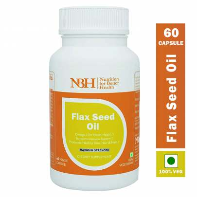 VEGETARIAN FLAX SEED OIL  CAPSULES FOR HAIR AND SKIN 500 Mg