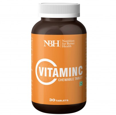 NBH Vitamin C chewable tablet with added zinc for immunity, antioxidant and skincare support
